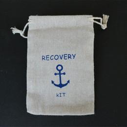Recovery Kit Leinen Jute Gunst Tasche 8x10cm 9x12cm 10x15cm Packung von 50 Hangover Anchoer Hochzeit Geschenkbeutel von Fabrikanten