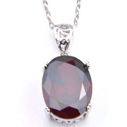 LuckyShine 10 шт. / лот 925 стерлингового серебра кулон ожерелья женщин Пасха Коларес Рубин ювелирные изделия индийский гранат драгоценный камень кулон ювелирные изделия от