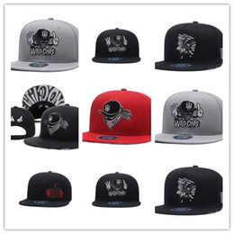 Casquettes sauvages en Ligne-Top Sale Fashion Marque X Les sauvages Snapback Hats West Coast gangsta Cool Hommes Hip Hop Caps Street Headwear noir gris Rouge
