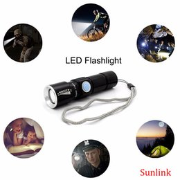 Wholesale Mini Flash Light Torch - led flashlight cree outdoor multi tool set rechargeable flashlight for camp USB Mini Torch Flash Light Pocket Portable strong Zoomable Lamp