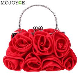 025ef674bdb1 сатиновые цветочные сумочки Скидка Элегантные женщины атласные Rhinestone  сумки небольшие вечерние сумки розы цветочные женские партии