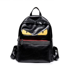 Wholesale pu backpacks - Luxury Backpack Famous Designer Women Men Travel Backpack Casual Student School Bags Teenagers High Quality Moster Cute Shoulder Bags