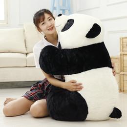 Brinquedo material panda gigante on-line-Bebê bonito Grande Panda Gigante Urso De Pelúcia Bicho De Pelúcia Animais Boneca de Brinquedo Travesseiro Kawaii Bonecas Meninas Presentes Knuffels 20T0274