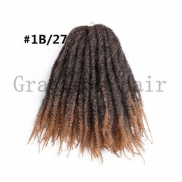 Wholesale freetress synthetic hair - synthetic ombre hair extensions 18inch crochet braids afro kinky twist marley braids freetress hair extensions 1B 27 afro kinky marley hair