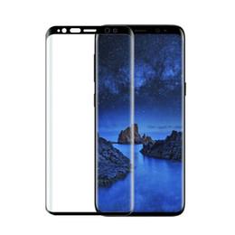 Protector de pantalla templado s6 online-Para Samsung Galaxy s9 s9 más S6 edge S7 S7 S8 S8 PLUS Nota 8 Protector de pantalla de cristal templado 3D de cubierta completa 100pcs / lot