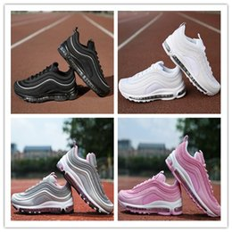 Wholesale Max Silver - New Maxes 97 Running Shoes Cushion Men OG Silver Gold Anniversary Edition Sneakers Man Maxes Athletic Sports Trainers Shoes size 36-46