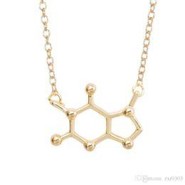 2019 colar da química 2018 Pingentes Colares Para As Mulheres Química Gargantilhas Collar Elegante Simples de Prata de Ouro mulheres Colares colar de corrente colar da química barato