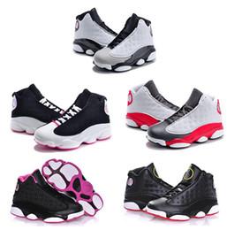 Argentina Venta online 2017 Barato New 13 Zapatillas de baloncesto para niños Zapatillas para niñas niños Niños Babys 13s zapatillas para correr Tamaño 11C-3Y cheap cheap running shoes for girls Suministro
