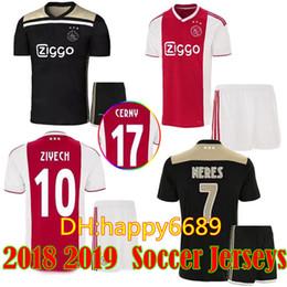 4026b4e9d 2018 2019 Ajax FC Men soccer jersey kits 18 19 KLAASSEN FISCHEA BAZOER  MILIK home away football uniforms shirt AJAX Men Soccer Sets