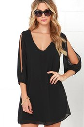 Wholesale women off shoulder puff sleeve - Women Chiffon Dress Sexy Off Shoulder Rompers Loose Clothes Summer Shirt With Short Sleeve Woman Sexy Shirts Clothes Free Shipping
