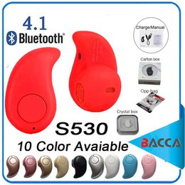 Wholesale Bluetooth Wireless Microphone For Iphone - Smallest S530 Mini Wireless Bluetooth V4.0 Earphone Headphones In-Ear Headset With Microphone for iphone X 8 7note8 For All CellPhone