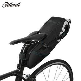 Велосипедные багажные сумки онлайн-Waterproof Bike bags Bicycle Saddle Bag Reflective Large Capacity Foldable Tail Rear Bag Cycling MTB Trunk Pannier Backpack