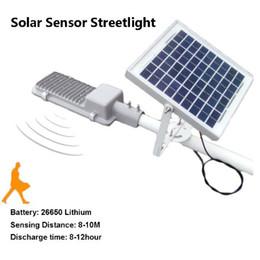 Solar levou luz de rua motion sensor de radar 20 watts 20 pcs 2835smd ip65 à prova d 'água para pathway jardim parque paisagem de