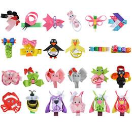 "Wholesale Cute Hair Clips For Babies - Wholesale- 24PCS 2-2.5"" Hair Bow For Girls baby DIY Cute animals Hairpin Cheer bows Ribbon Kids Hair Clip Brand New Hair Accessories XCA009"