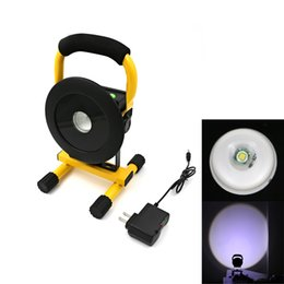 Wholesale T6 Led Light Bulb - Powerful XML T6 LED Portable Searchlight Hand-held Hunting Flashliht Rechargeable Spotlight Outdoor Lantern Lighting for Camping
