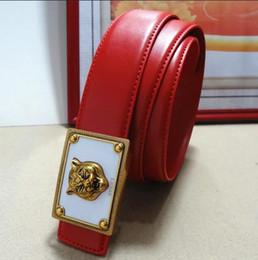 Wholesale Leather Suspenders For Men - 2018 belt high quality brand designer belts luxury fashion belts for men copper type tiger head belt men and women waist cowhide belt 105CM