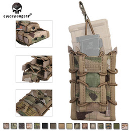 Doppelmagazin online-Tactical 5.56 9mm Nylon TC Doppeldecker Magazintasche Emerson CS MAG Taschen MOLLE Camouflage Multicam Khaki Olive