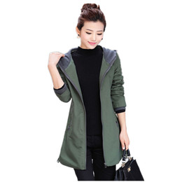 Wholesale Middle Age Women Clothing - Wholesale- Fashion Casual Clothes Spring Autumn Plus Size Lady Long Trench Coat Hooded Middle-aged Women's casual clothing Coat Female D196