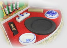 Canada Pinceau calligraphie chinoise pas cher stylo Inkstone boîte à outils Offre