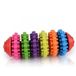 Wholesale Dog Ring Toy - Colorful Pet Dog Slide Gear Molar Teeth Cleaning Chew Toy,Molar teeth non-toxic swivel ring - colorful