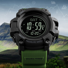 наручные часы магазин Скидка Мужские спортивные цифровые наручные часы компас высотомер барометр мода открытый шагомер обратный отсчет часы часы Relogio Masculino