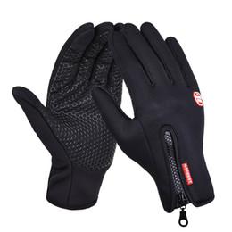Ветрозащитный сенсорный экран перчатки езда на велосипеде длинные перчатки рукавицы теплый флис лыжные принадлежности от