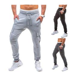 Wholesale thick sweatpants - Men's Fitness Sports Pants Stitching Design Stripe Decorative Stovepipe Cotton Harem Pants Thick Winter Sweatpants Size M-3XL