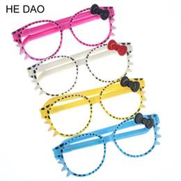 Óculos promocionais on-line-4 Unidades / pacote Caneta Promocional Moda Quadro Gatinhos Bonito Criativo Dos Desenhos Animados Caneta Esferográfica Óculos