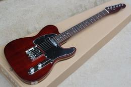 Schwarze chrom-gitarren-hardware online-Weinrote E-Gitarre mit gelbem Palisanderhals, schwarzem Schlagbrett und verchromter Hardware, die maßgeschneiderte Services bietet