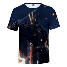 Wholesale purple wizard - Wizard 3 3D Print Game Clothing T-Shirt New Fashion Popular Games Witerer 3 Wild Short-Sleeve T-Shirt Men Women