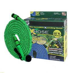 Spray a lattice online-2 Colori Latex 25 50 75 100 125 150 FT Tubo flessibile flessibile espandibile con ugello a spruzzo Decorazioni da giardino Rubinetteria da bagno Accessori bagno