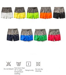 Wholesale Beach Lovers - 2018 Multi - color splicing men's speed dry shorts New summer beach slacks Comfortable lovers beach shorts best seller