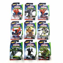 Автомобили-пауки онлайн-Горячие колеса автомобиля MARVEL Ultimate Spider Man Sinister6 коллекционное издание металл литья под давлением автомобили детские игрушки автомобиль для подарка 10 шт./компл.