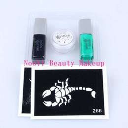 Wholesale Body Kits Parts - Free shipping MINI Body Art condensation liquid 2 colors temporary tattoo glue Glitter kits part makeup schmink sexy diyfestival