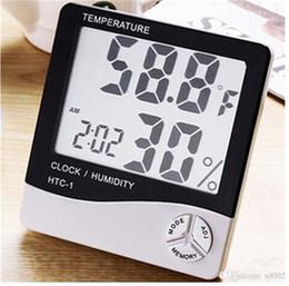 compteurs météorologiques Promotion Mode Intérieur Salle Lcd Température Électronique Humidimètre Numérique Grand Écran Thermomètre Hygromètre Station Météo Prévisions 8 8xq jj