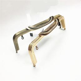 Роскошные сумочки онлайн- bronze golden color knurling purse frame diamond handle women handbag metal clasp hardware accessories 10pcs/lot