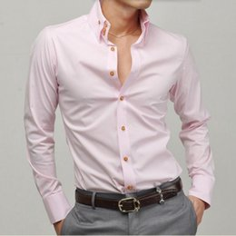 Wholesale tailor s - men new style shirt tailor made long sleeve groom shirt white formal work high quality leisure loose