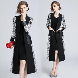 Cortavientos largos, bordados de la industria pesada, chaqueta de cintura bordada y cintura Nueva llegada Verano Venta al por mayor Mujeres Damas Casual desde fabricantes