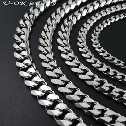 9mm chain Promo Codes - whole sale4 5 7 8 9mm 40cm-120cm Men Women Chain Necklace 316l Stainless Steel Silver Chain Stainless Steel Necklace Fashion Jewelry