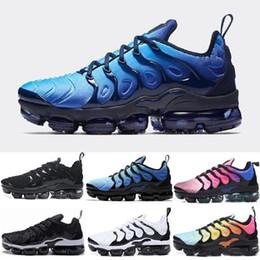 100% authentic 60bfe c6832 2018 Hot TN Plus Scarpe da corsa Outdoor Run Shoes tn Nero Bianco Sport  Shock Sneakers Mens richiesta in argento oliva metallizzato sconti hot plus  white