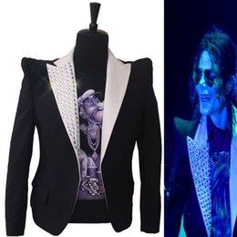 2019 costumi michael jackson Abito formale Classic England Style MJ MICHAEL  JACKSON Costume Questo è giacca 8e3329c79436