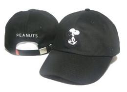 Tapa de cacahuetes online-2018 Cartoon Snoopy Peanuts Snapback Hat Camionero Viseras Gorra LOVE figureBird fish Bordado papá Béisbol Sombreros Bone Golf Hat Gorras Chapeau
