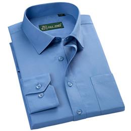 Wholesale Turndown Collar Dress Shirt - new arrival 2017 high quality classic twill business men's shirts long sleeve turndown collar plus size 5xl dress shirt