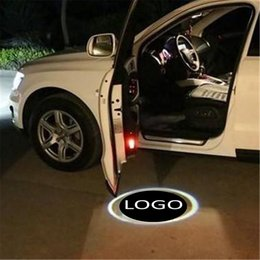 laser logo light Coupons - for mazda for nissan 2 xled 4th high quality 12v led car door logo light welcome lamp auto laser projector light