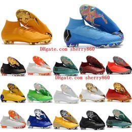 2018 chaussures de football pour hommes Mercurial Superfly VI 360 Elite chaussures de football à crampons de football N7MAR Ronaldo FG AG ? partir de fabricateur