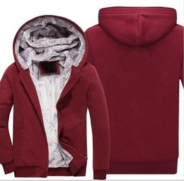 Wholesale gray baseball uniforms - S22-S30 USA SIZE 2018 Men Winter Autumn Hoodies Blank pattern Fleece Coat Baseball Uniform Sportswear Jacket wool make to order designs