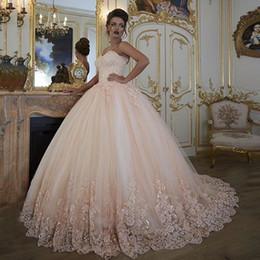 Robes de mariée vintage robes de mariée Turquie dentelle Bling perlé Tulle chérie Corset Retour Puffy Plus taille robe de bal 2018 ? partir de fabricateur