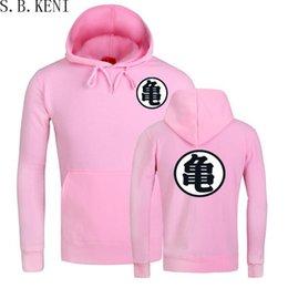 Толстовки с капюшоном онлайн-Горячая Dragoll толстовки сын Гоку ВС Укун зима флис мужская толстовка уличная розовый пуловер мужчины толстовки кофты