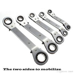 Canada Hot nouveau 5pc Métrique Offset Double Ring Wrench Spanner Réversible Ratchet Handle Wrench Metric Hand Tool 6mm à 21mm Offre