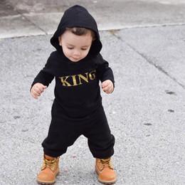 esmoquin de 18 meses Rebajas Recién nacido bebé niño disfraz carta con capucha de manga larga mameluco mono traje primavera otoño mameluco de algodón traje ropa
